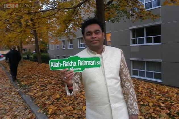 A street in Canada is named after AR Rahman. He has been honoured for his contribution to the world of music.