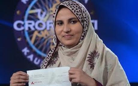 Firoz Fatma - the first female crorepati of KBC 2013.