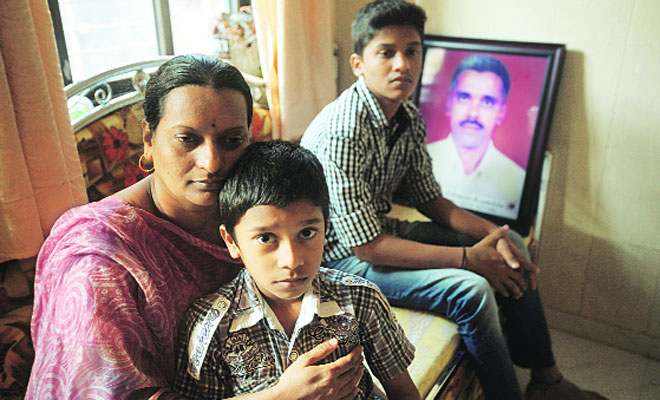 "Shruti with her sons. ""I regret I couldn't thank him,"" she says./  Pradip Das"