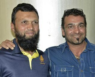 Behind the scenesBowling coach Mansur Ali Khan and batting coach Arun Kumar / Photo: K. Bhagya Prakash / The Hindu