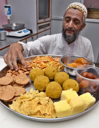 A taste for community spirit: Saifuddin, the mithai wallah./ Photos: M. Periasamy / The Hindu