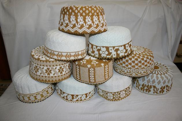 Topis worn by Bohra men./ The Hindu