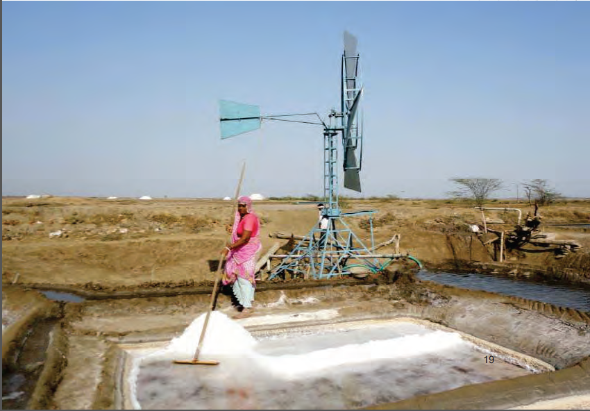 Low cost windmill has solved irrigation problems for the village
