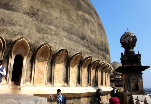Tourists at Gol Gumbad / by Special Arrangement