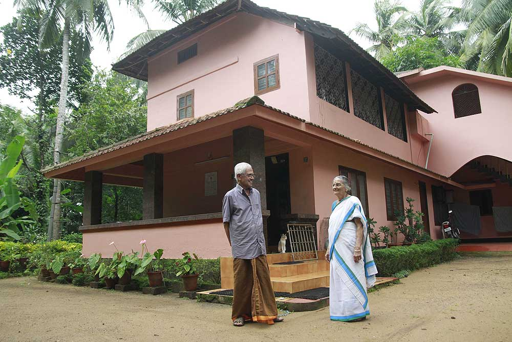 Historian M. Gangadharan at home. (Photograph by Sivaram V.