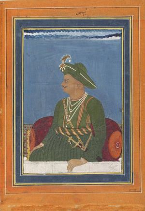 Tipu Sultan, ruler of Mysore from 1782 to 1799