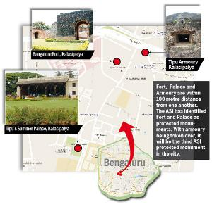 Fort,  Palace and Armoury are within 100 metre distance from one another.  The ASI has identified Fort and Palace as protected monuments. With armoury being taken over, it will be the third ASI protected monument in the city