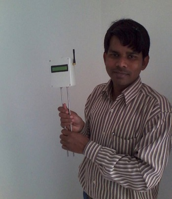 Abdul constantly innovating, with his GPRS sensor