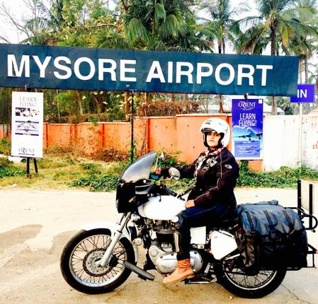 Sana began the ride in November from Goa, where she had been participating in a rally. So far she has covered 10 States and Kochi is the 50th city she has visited.