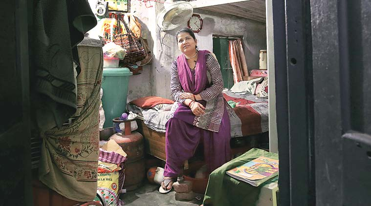 At her parents' home in Kashipur. Shayara hasn't met her two children since she left Allahabad last April. (Express Photo by Ravi Kanojia)