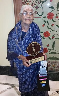 Suraiya Hasan was recently honoured with the Devi Award