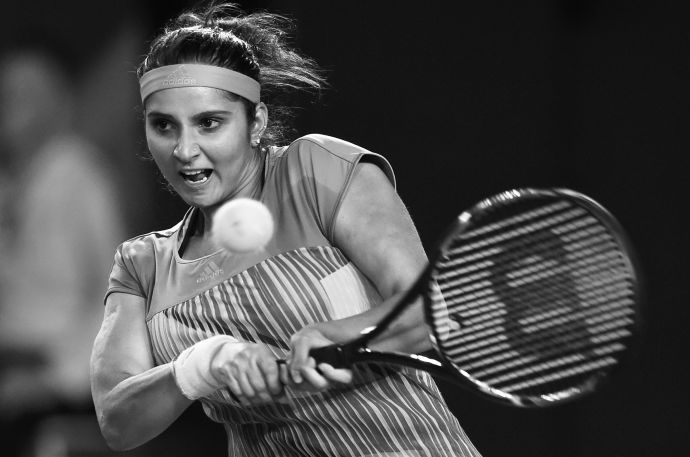 """For a girl to pick up a tennis racquet and to want to be a professional—it was unheard of,"" Sania Mirza says. ""People thought it was a joke."" PHOTOGRAPH BY GREG WOOD / AFP / Getty"