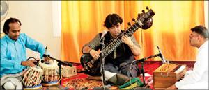 Ustad Hafiz Balekhan is seen presenting a Sitar recital in city recently accompanied by Ustad Nisar Ahmed on Tabla and Pandit Harikrishna Purohith on Harmonium.