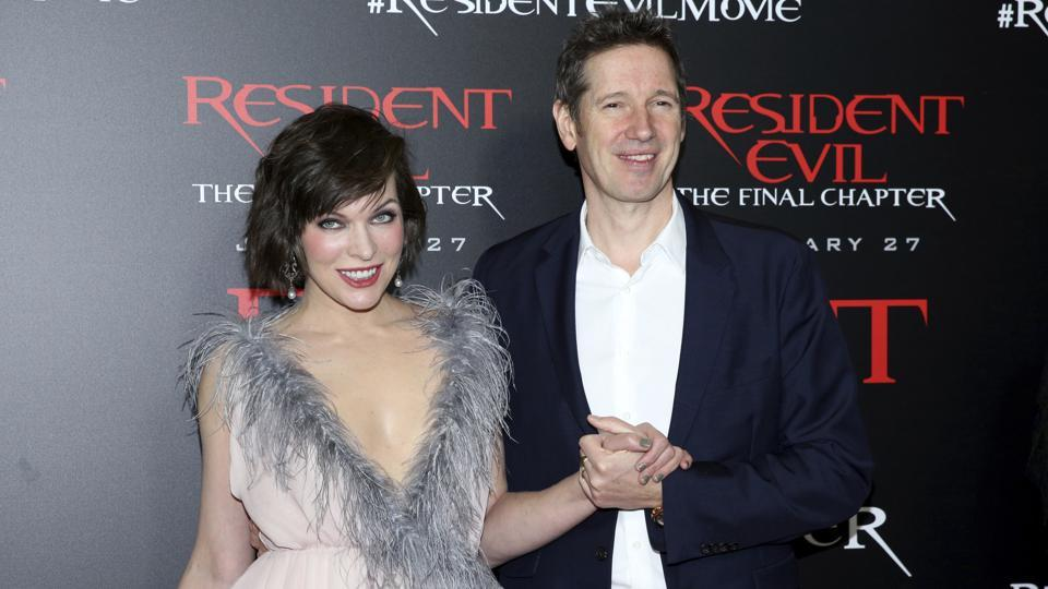 Actor Milla Jovovich and her husband, filmmaker Paul W.S Anderson say Salman Khan has more fans in Germany than them.(Rich Fury/Invision/AP)