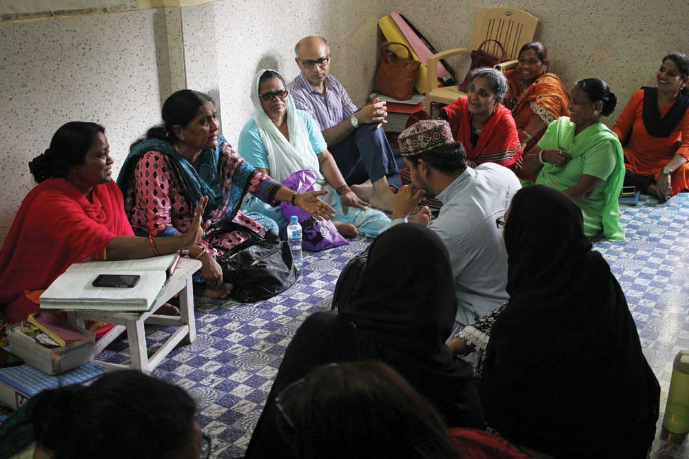 As a qazi, Khatoon Shaikh (second from left) often handles cases where women have been divorced and abandoned without any consultation (Photo: Anushree Fadnavis)