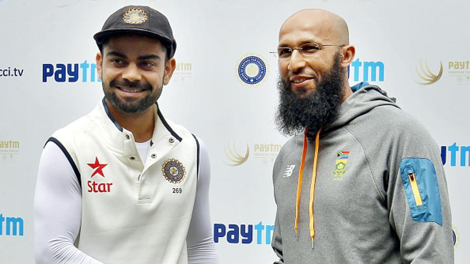 Hashim Amla surpassed Virat Kohli to become the fastest to 7000 ODI runs during South Africa's game against England at the Lord's on Monday. (Hindustan Times via Getty Images)