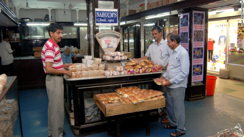 Muslim workers at the 115-year-old Nahoum's confectionary, founded and owned by Jews, in downtown Calcutta.