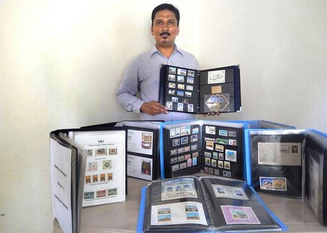 Going strong: Y. Abdul Rasul has been collecting stamps since he was 10 years old.