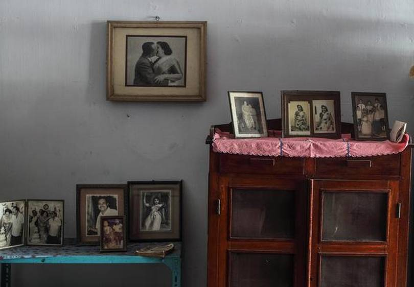 Sepia-tinted memories: A corner of the home dedicated to the past. PHOTO: THULASI KAKKAT