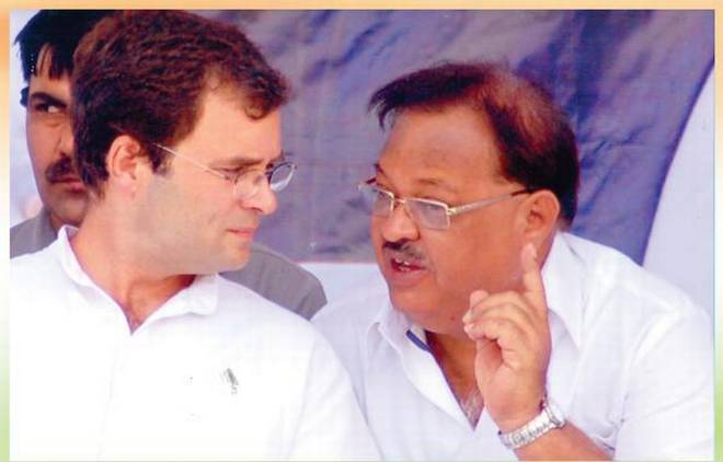 A file photo of Quamar Ul Islam with Congress vice-president Rahul Gandhi. | Photo Credit: Special Arrangement