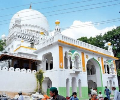 The stone and lime mortar tomb has been painted white in violation of conservation rules.(Pic: Syed Omar)