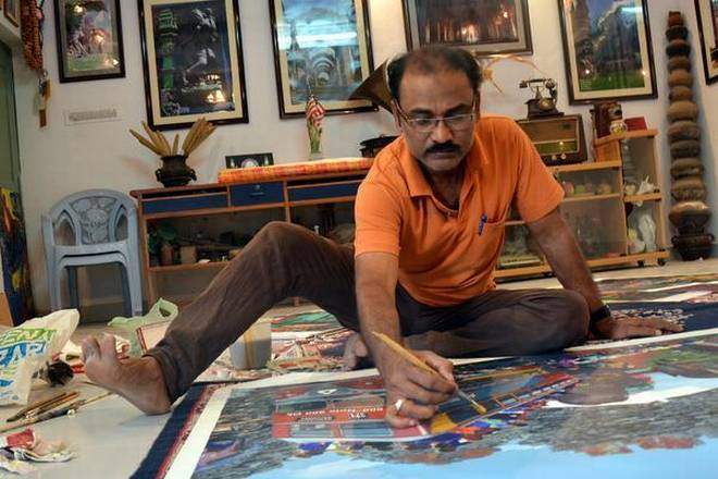 Lalit Kala Akademi Awardee Mohammad Ayazuddin Patel will be participating in the 5 th International Cultural-Artistic event from July 8. | Photo Credit: ARUN KULKARNI