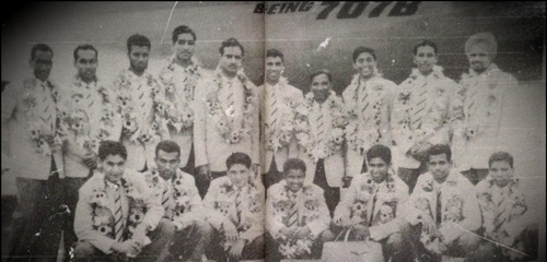 Mohammed Yousuf Khan (top, third from left)