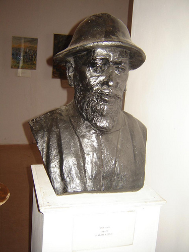 General Bakht Khan's bust in Red Fort museum.