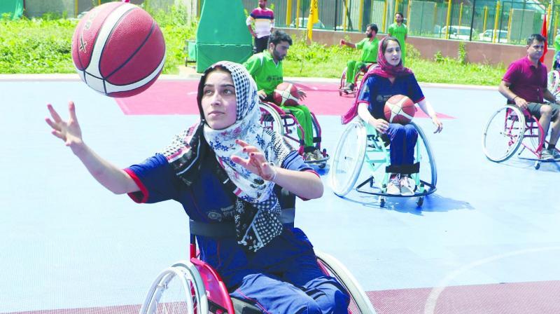 Wheelchair basketball players in Kashmir. (Photo:H.U. Naqash)