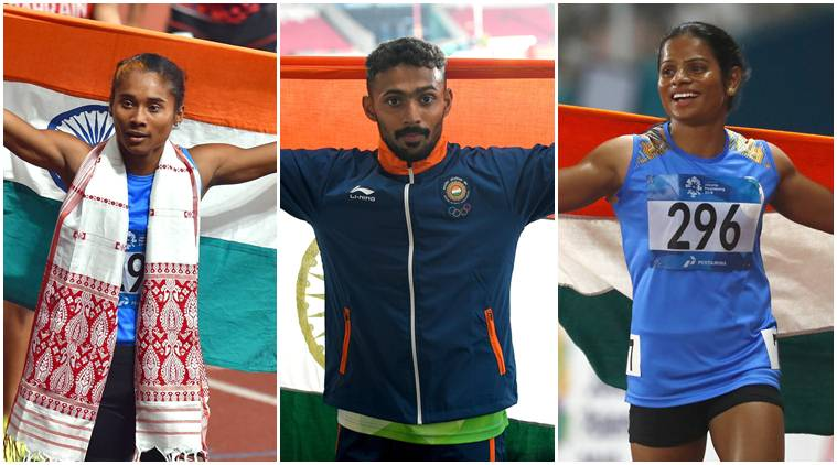 Hima Das, Muhammed Anas and Dutee Chand added three silvers to India's medal tally.