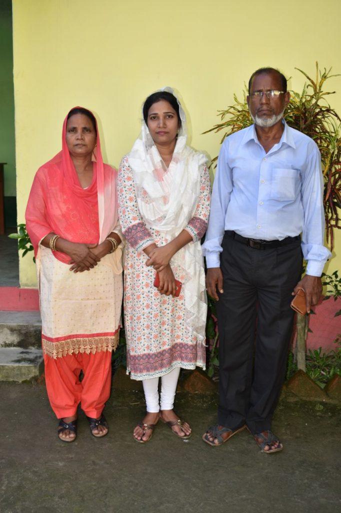 Nargis with her parents